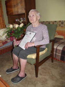 Csipkés Lajosné 90 éves